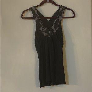 Express black/lace tank top